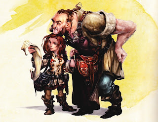 Halfling picking pockets
