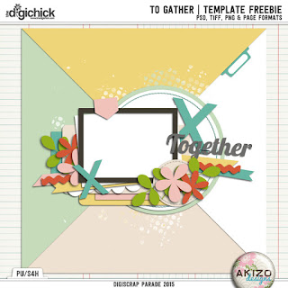 To Gather DigiScrap paradise Nov. 2015 by Akizo Designs