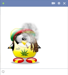 Emoticon Pinguim Rastafari