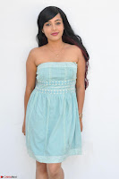 Sahana New cute Telugu Actress in Sky Blue Small Sleeveless Dress ~  Exclusive Galleries 023.jpg