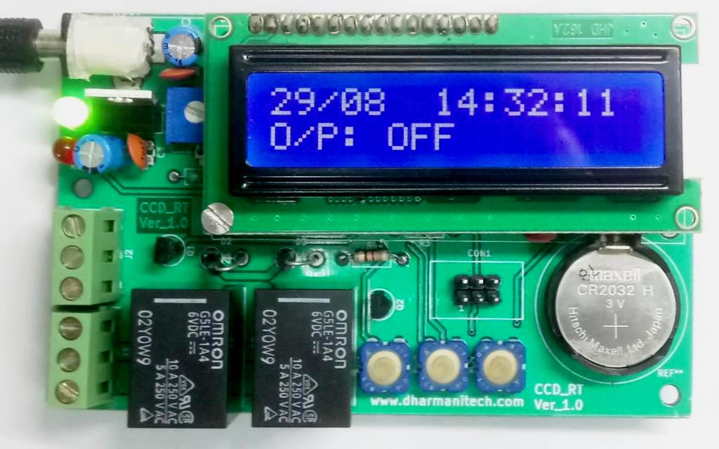 Design with Microcontrollers: Relay-Timer Circuit with RTC