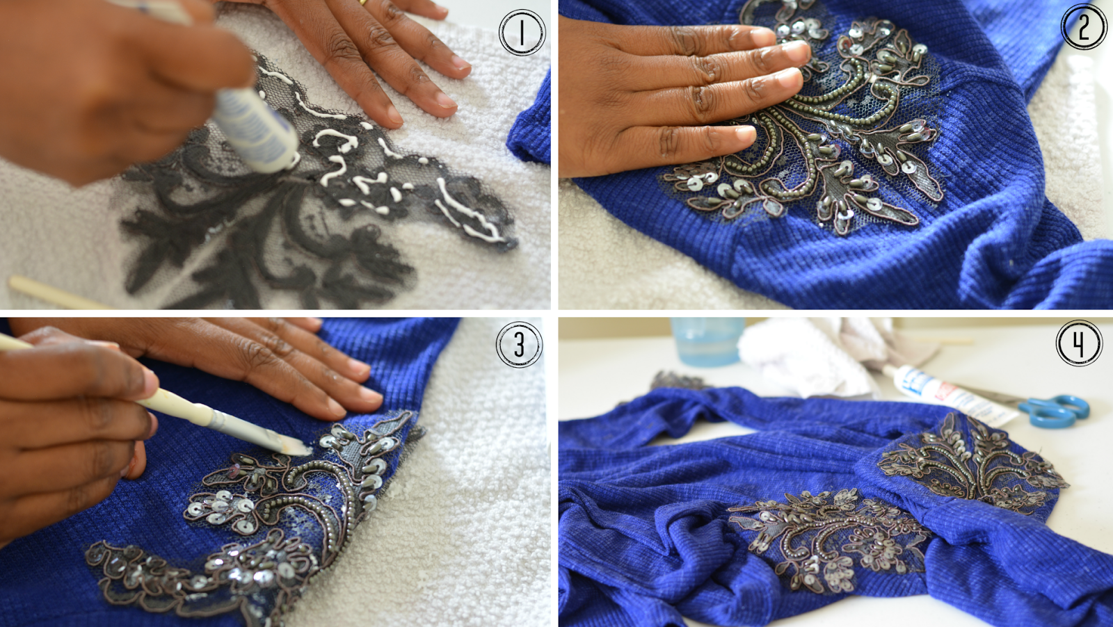 diy embellished shoulders tutorial