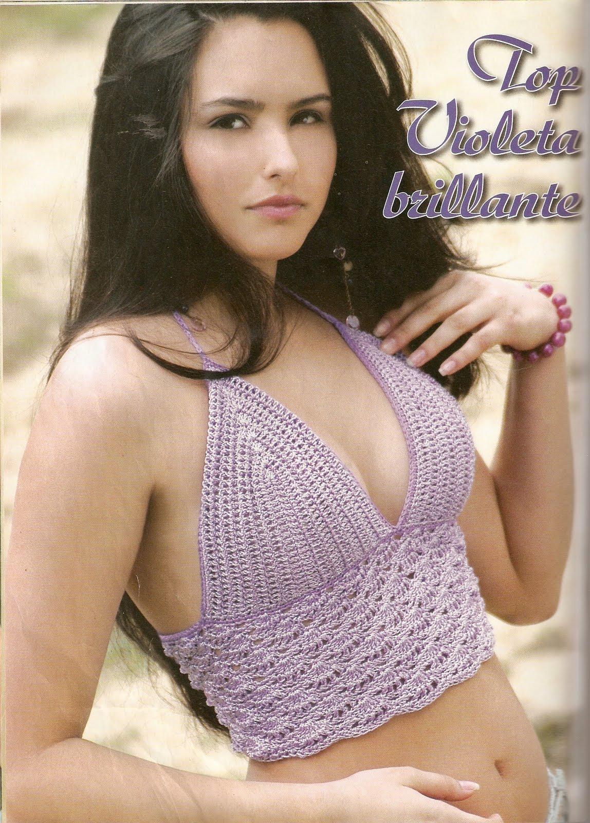 Top Violeta Patron