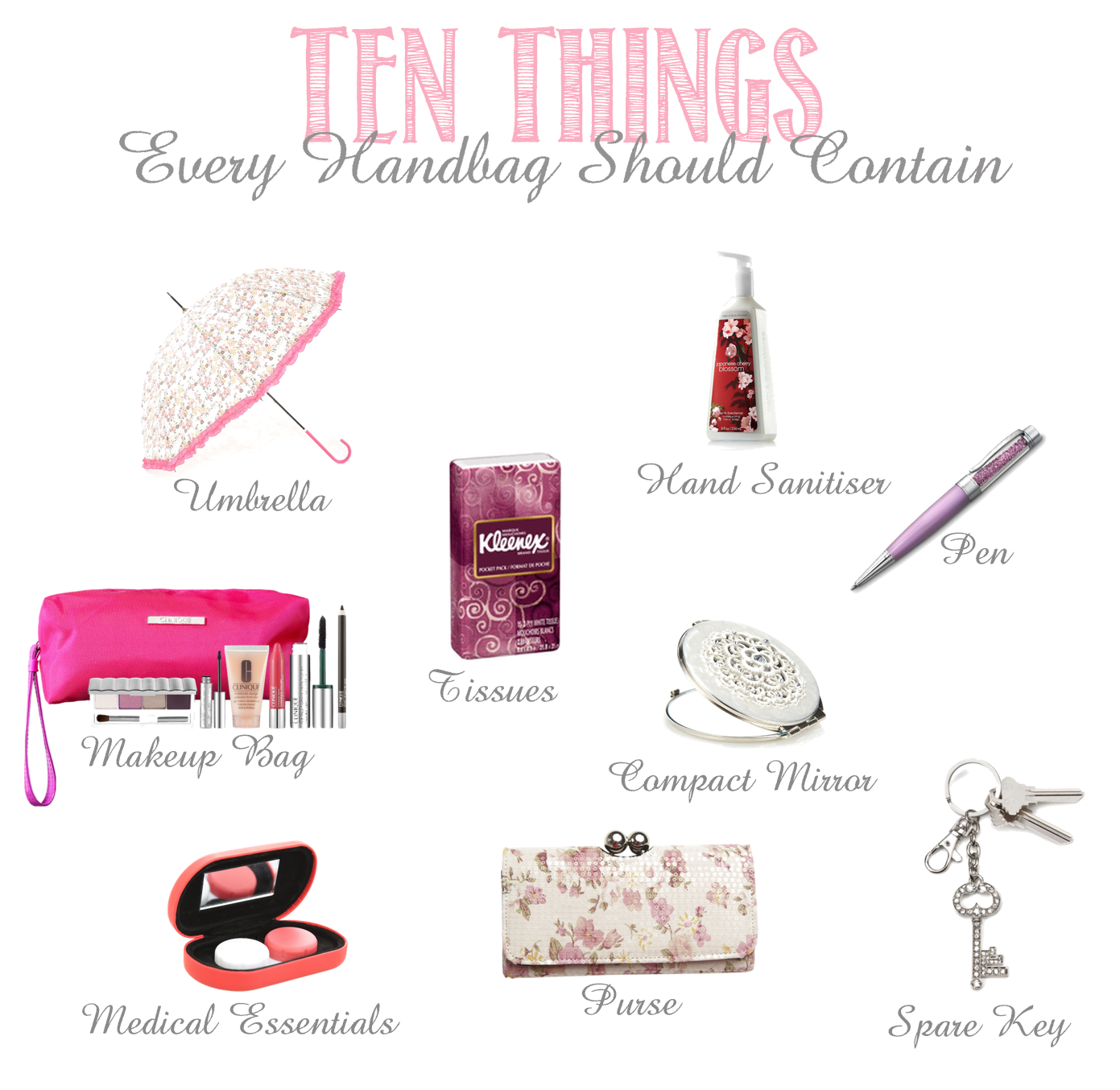 ten items that every woman's handbag should contain