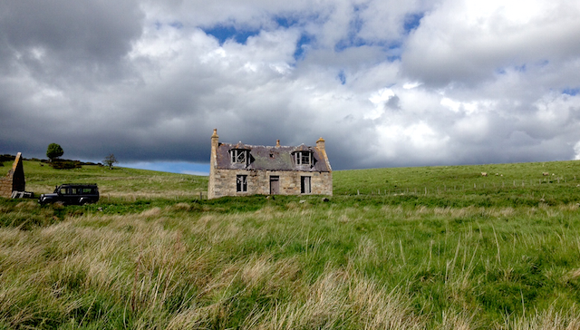 Ruined houses in Ardoch, Glengairn, Scotland, 2015