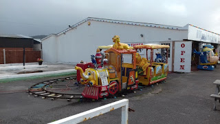 Miniature railway at the Pensarn Pleasure Beach in Abergele