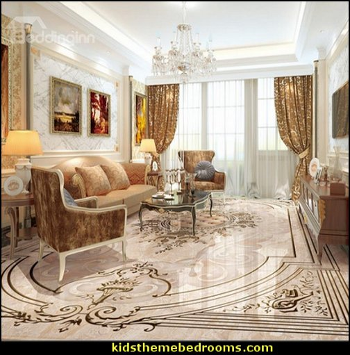 Flower Pattern Decorative Waterproof 3D Floor Murals