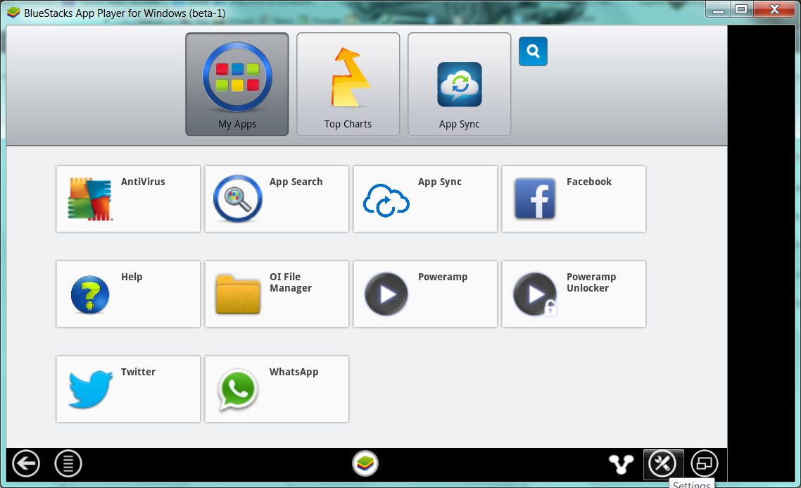 settings bluestacks