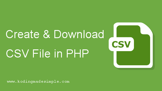 php create download csv file