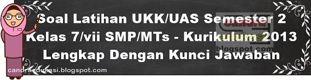 ibu guru download filenya tersebut dan dapat bapak Soal UKK/UAS Semester 2 Kelas 7 SMP/MTs