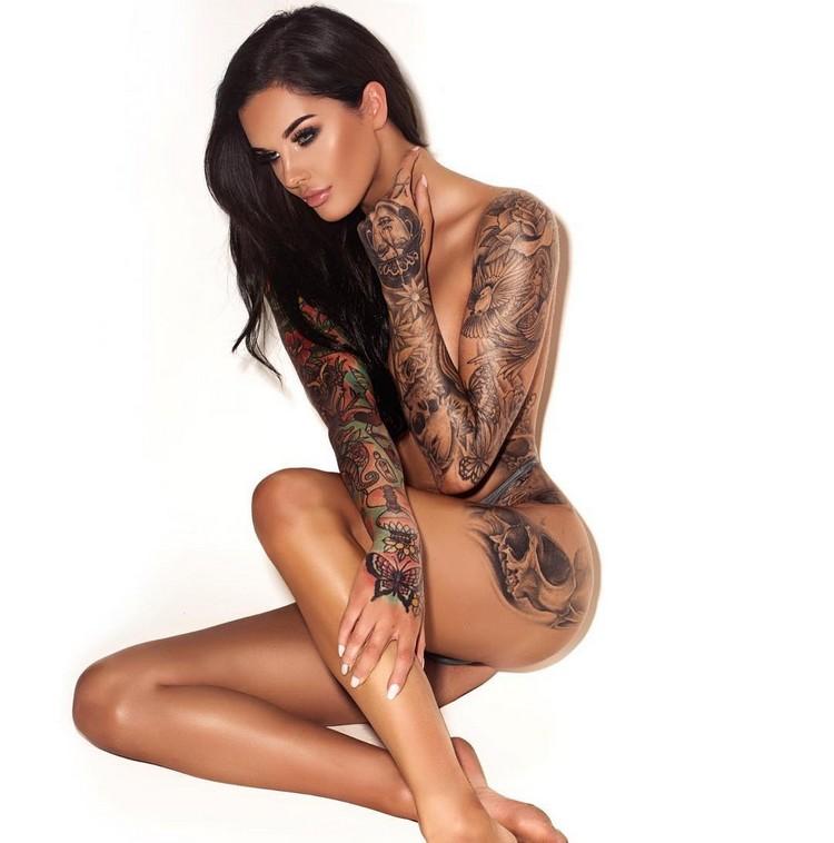 Tattoo model Lauren Houldsworth