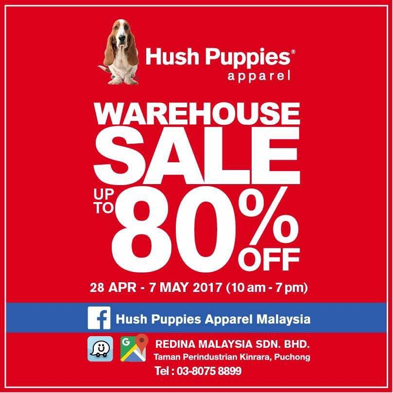 Hush Puppies Apparel 80%折扣促销