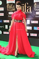Apoorva in a Stunning Tight Leg Split Sleeveless Red Gown at IIFA Utsavam Awards 12.JPG