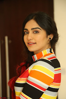 Adha Sharma in a Cute Colorful Jumpsuit Styled By Manasi Aggarwal Promoting movie Commando 2 (115).JPG