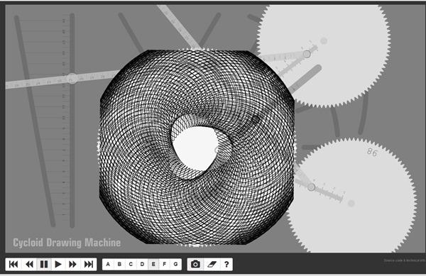 Spirographe en ligne :mécanisme