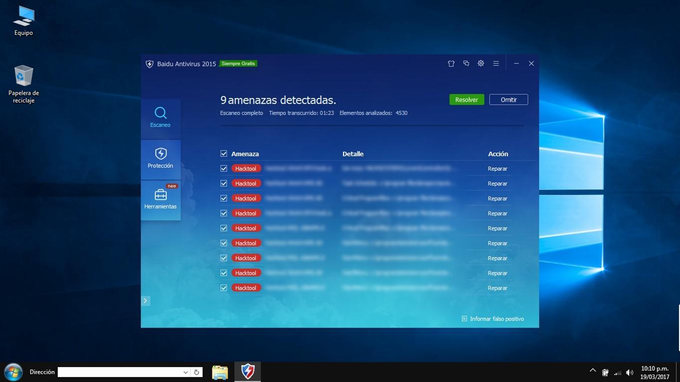 Escaneado del sistema por Baidu Antivirus - El Blog de HiiARA