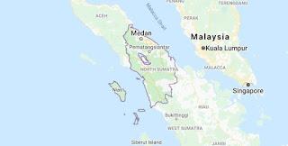 Peta provinsi Sumatra Utara