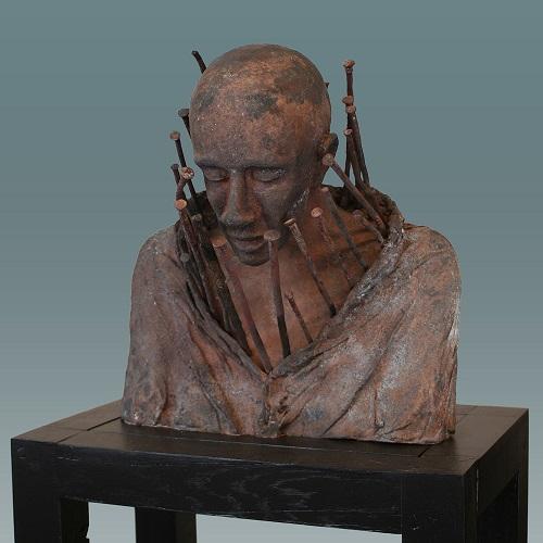"Kieta Nuij - ""Here, not there 3"" | imagenes de obras de arte contemporaneo tristes, esculturas bellas chidas | figurative art, sculptures | kunst"
