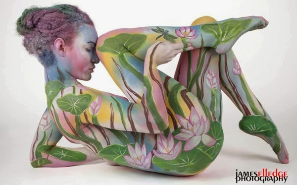 body painting, female body painting photos, full body painting