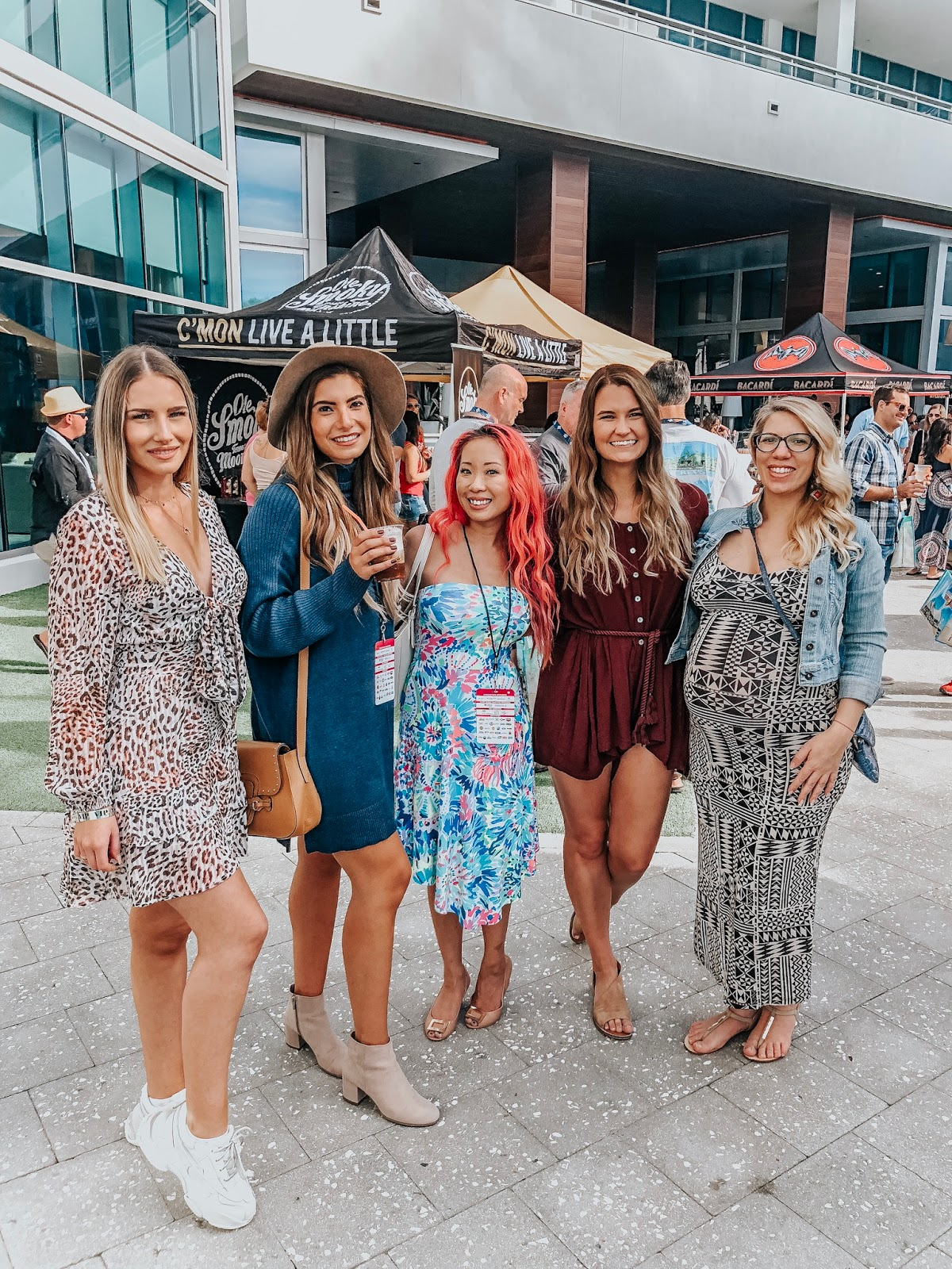 Tampa Bay bloggers at Clearwater Beach's Uncorked Food and Wine Festival located at the VIP spirits lounge at the Wyndham Grand