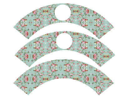Wrappers para Cupcake para Imprimir Gratis de Shabby Chic Vintage.