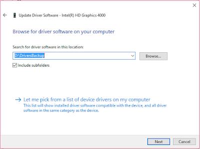 طريقة عمل باك اب Buckup لتعريفات الكمبيوتر بدون برامج ويندوز 10
