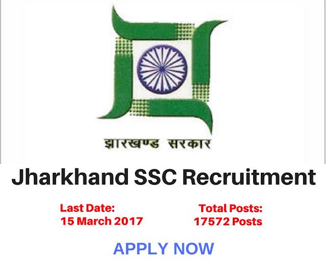 Jharkhand SSC Trained Graduate Teacher TGT Recruitment 2017