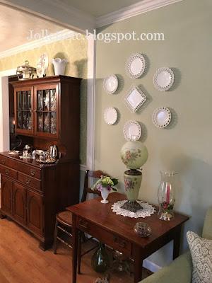 Milk Glass Plates belonging to Mary https://jollettetc.blogspot.com