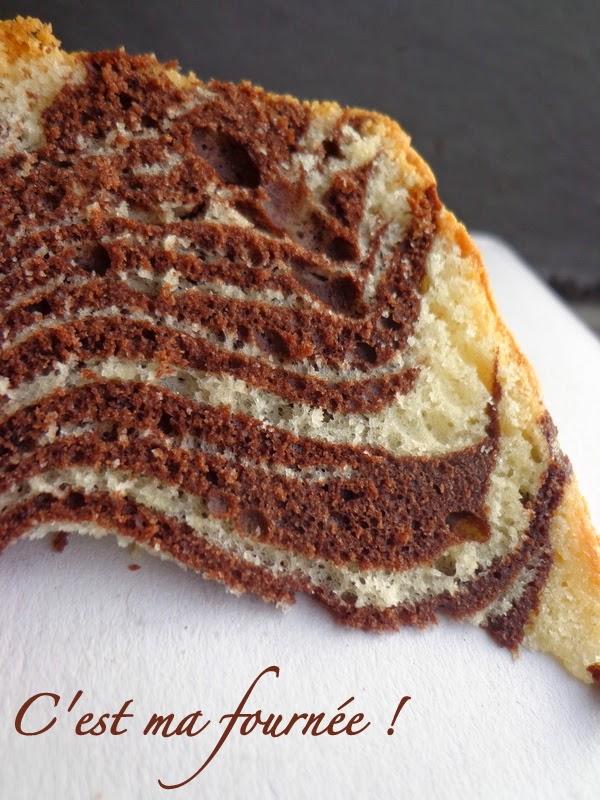 Zebra Cake Dans Moule Long