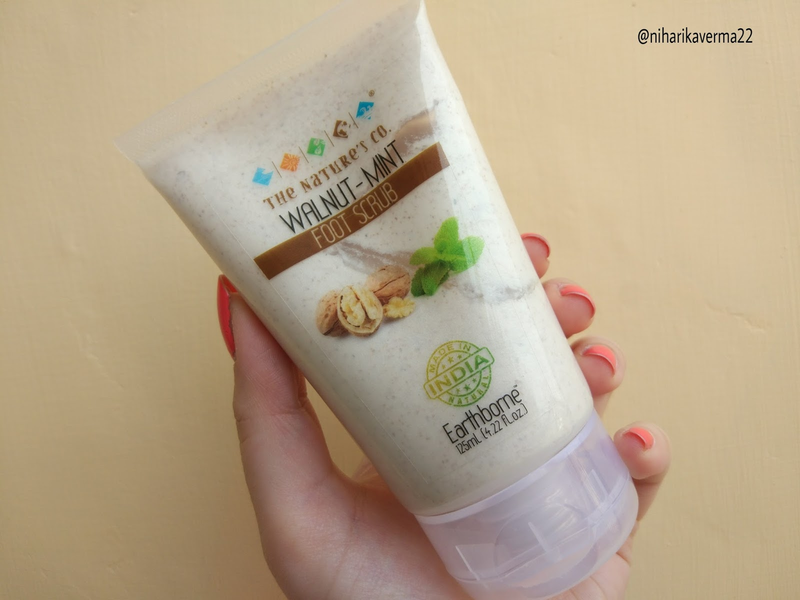The Pink Velvet Blog - The Nature's Co. Walnut Mint Foot Scrub