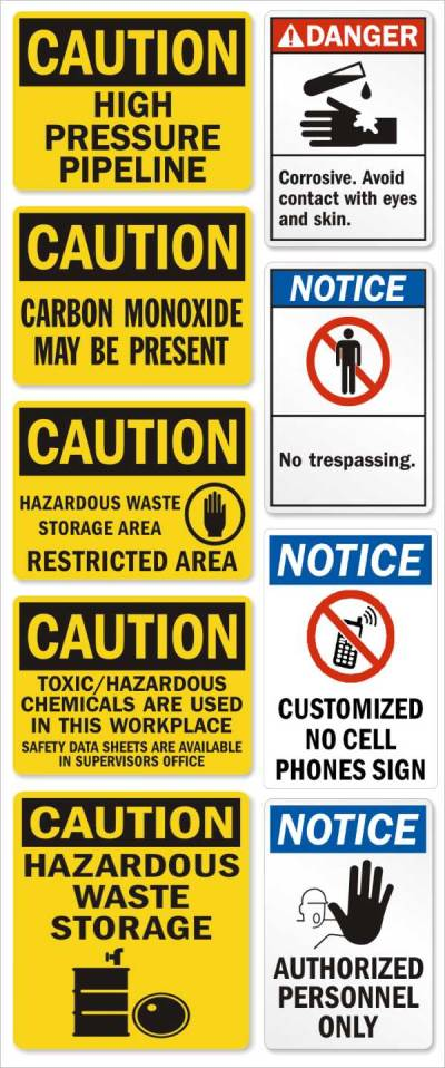 Cutting Sticker Safety Signs Graphx Cutting Sticker