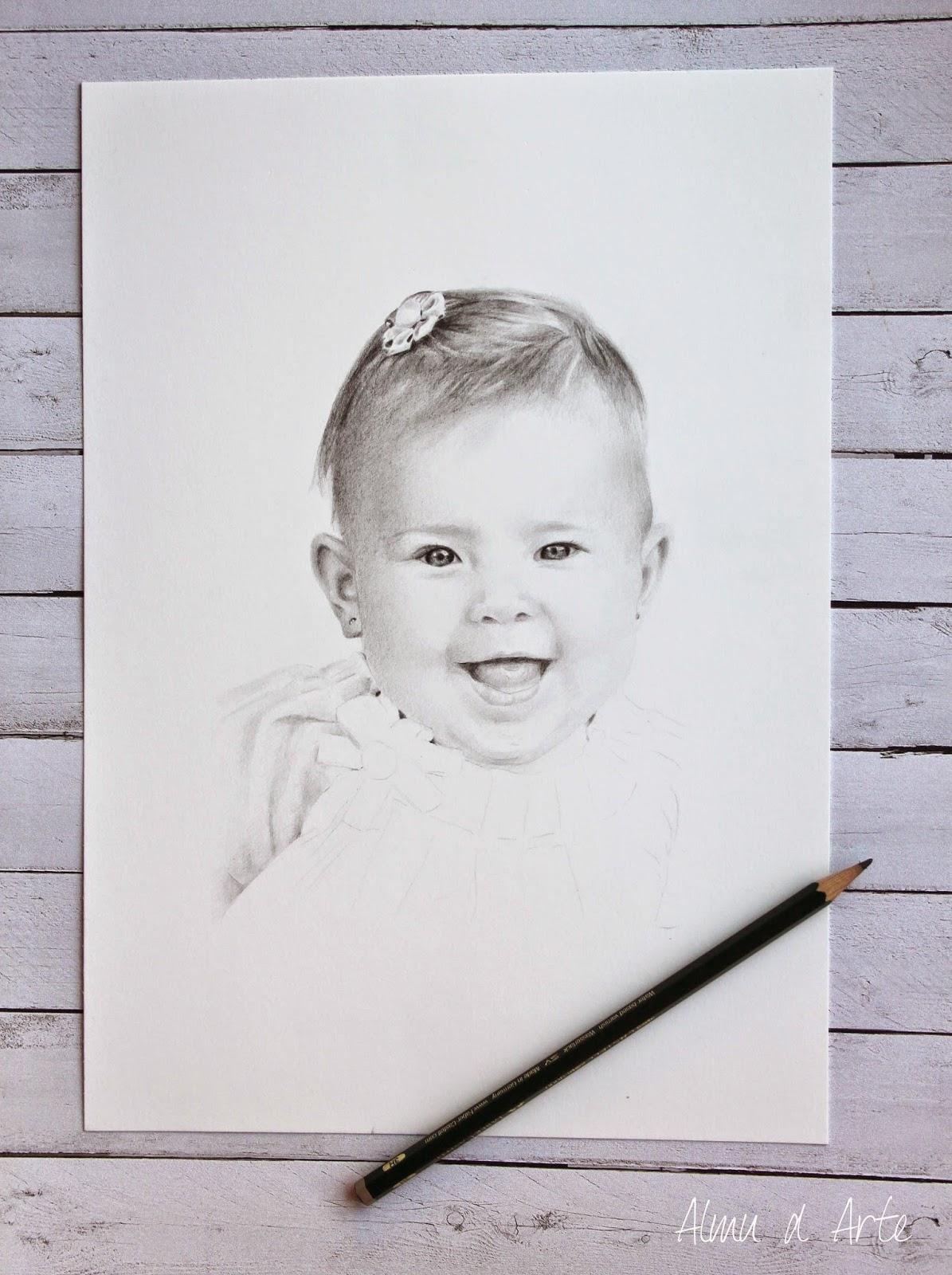 Retrato dibujado a mano paso a paso