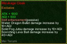 naruto castle defense 6.0 Mei Mizukage Cloak