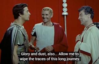 """Filmausschnitt """"Dacii"""" (1960) mit Piere Brice (links)"""