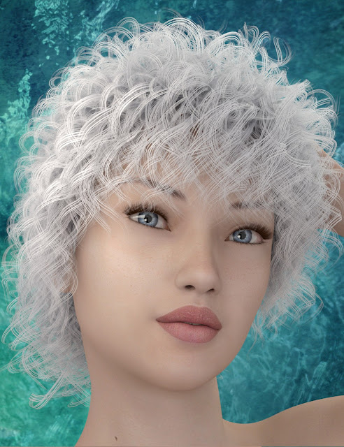 Mairia Hair for Genesis 3 Female and Male