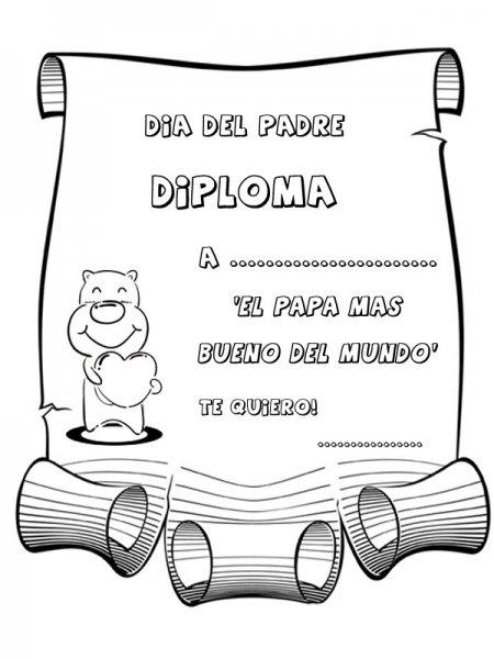 Dibujos Y Diplomas Día Del Padre Para Colorear