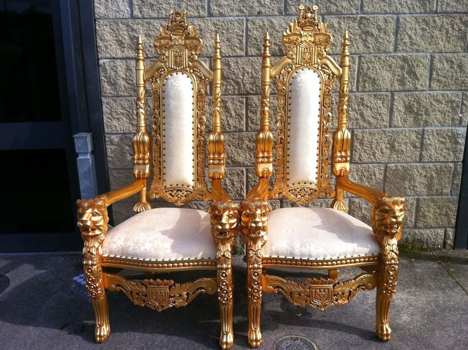 Large Wedding Throne Chairs