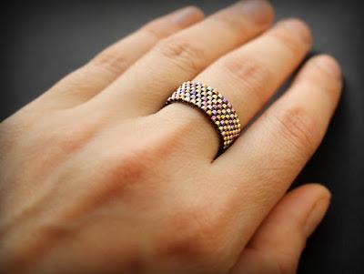 купить простое кольцо из бисера изделия купить в интернет магазине