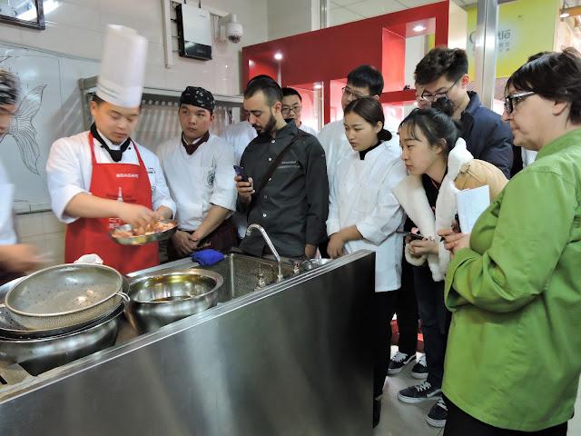 gastronomie chinoise à l'école Jinsong
