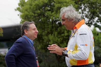 Jean Todt, and  Flavio Briatore