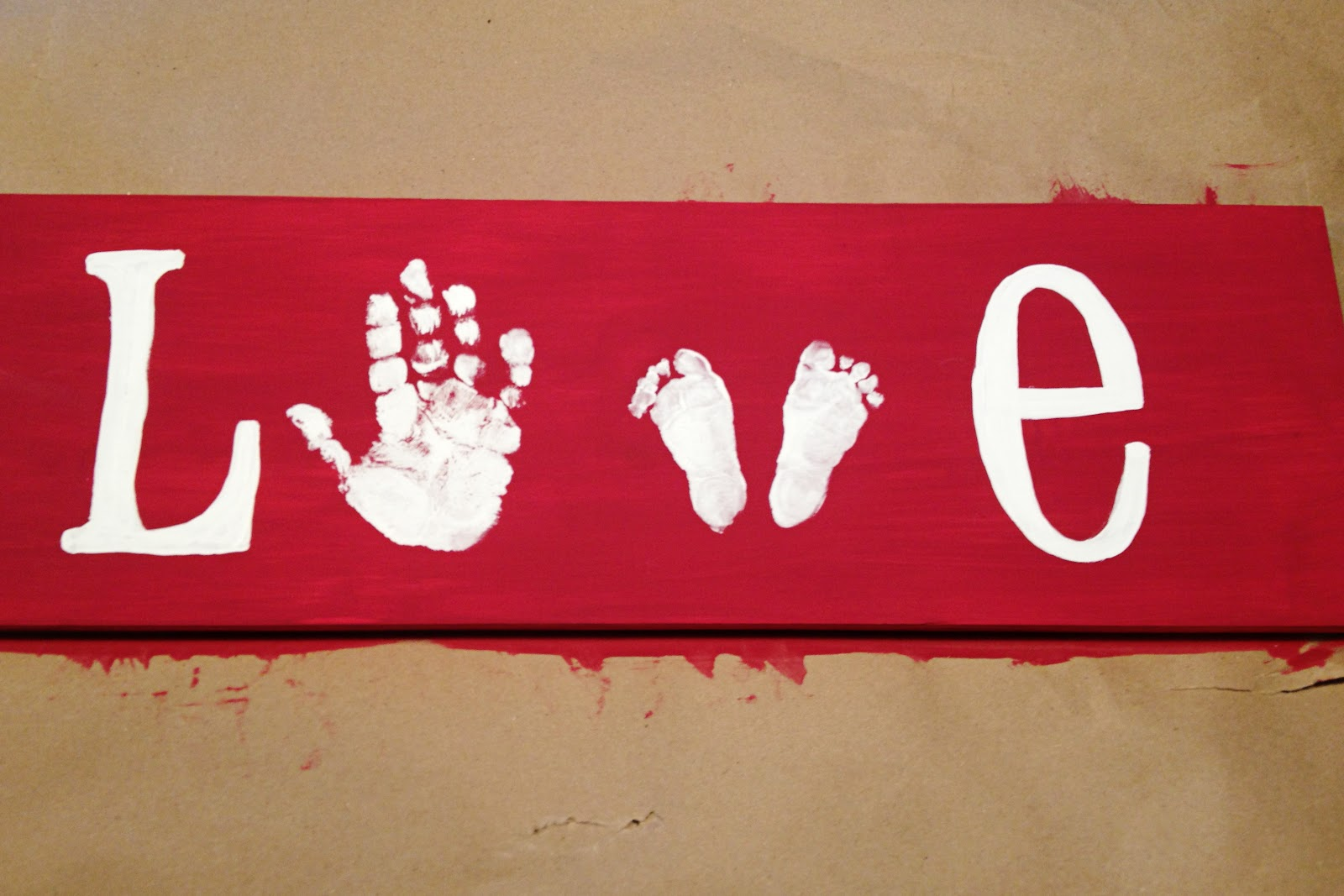 517 creations diy love hand and footprints for Hand and feet painting ideas