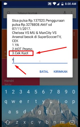 Cek Kuota Internet Data Telkomsel Simpati/As/Loop Dengan Menu Dial Up 2019 2