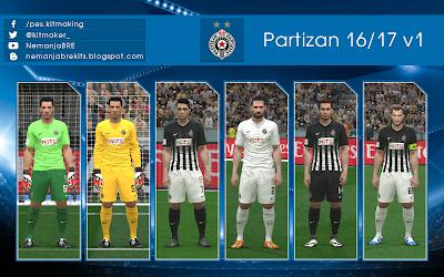 PES 2016 Partizan 2016/17 GDB by Nemanja
