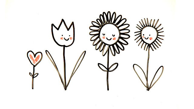 How to Draw Happy Flowers with artist Lady Lucas