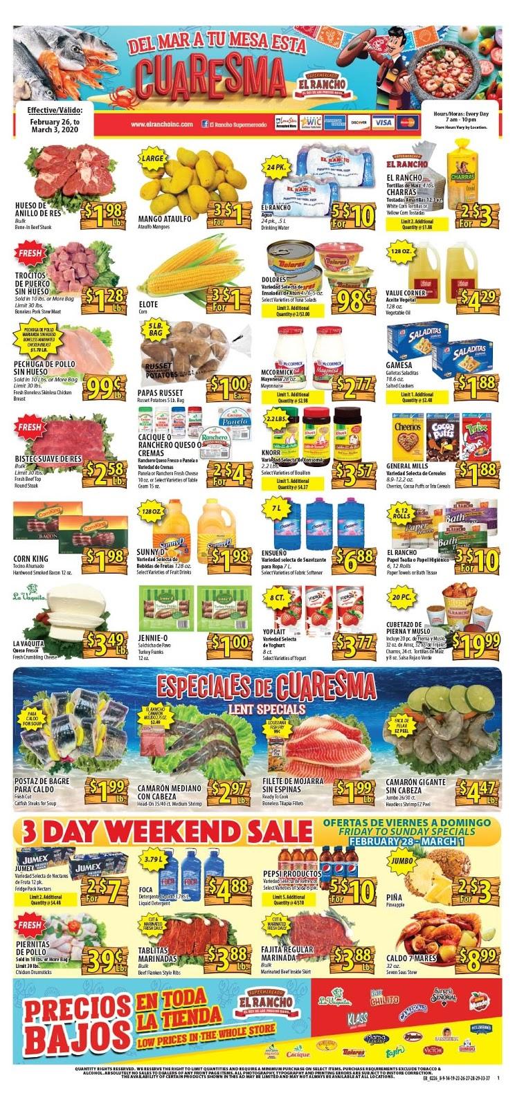 ⭐ El Rancho Ad 2/26/20 ⭐ El Rancho Weekly Ad February 26 2020