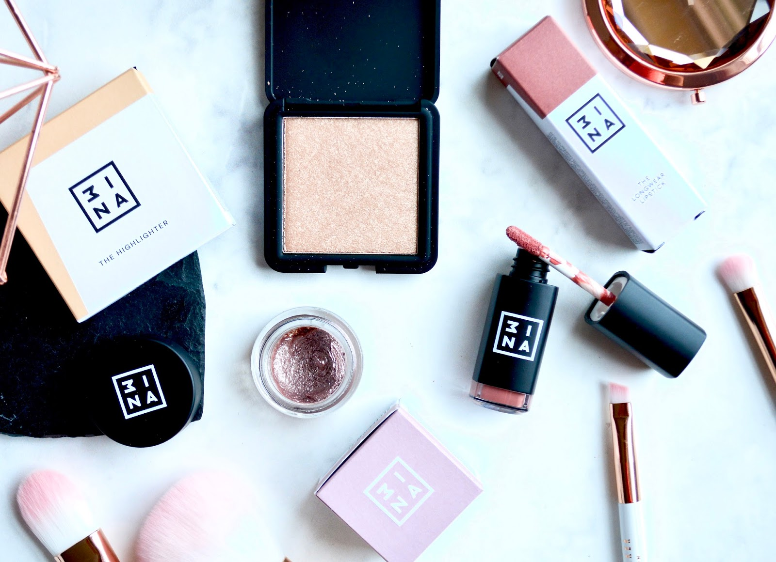 3INA Cosmetics Bestsellers | Longwear Lipstick, Highlighter & Cream Eyeshadow