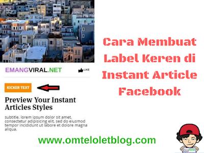 Cara Membuat Label Keren di Instant Article Facebook