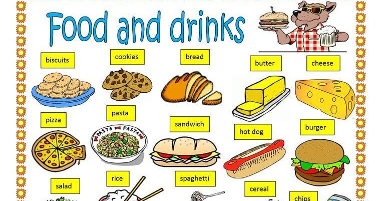 Food And Drink: [Exercise] English Vocabulary Food And Drink