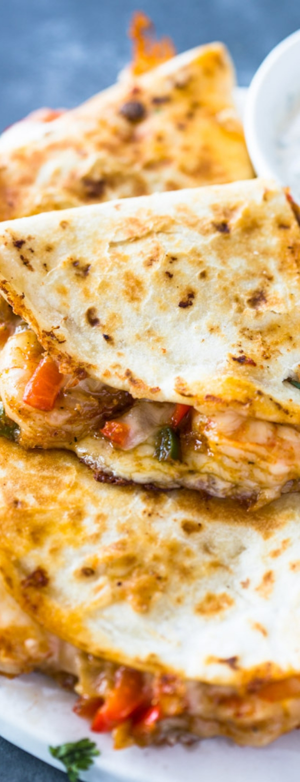 THE BEST SHRIMP QUESADILLAS #SHRIMP #QUESADILLAS #SEAFOODRECIPE