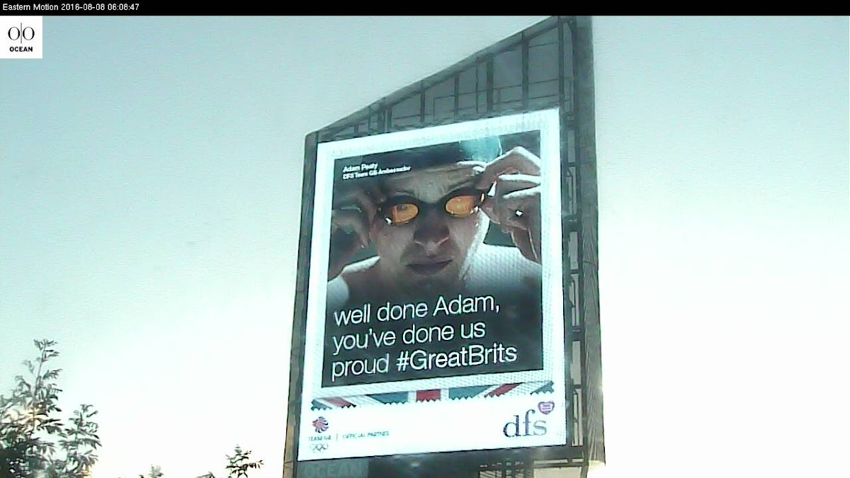 DFS celebrates 'Great Brits' - Adam Peaty's Gold Rio 2016 Win with digital OOH campaign
